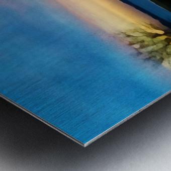 lake sunset 4 trees Metal print