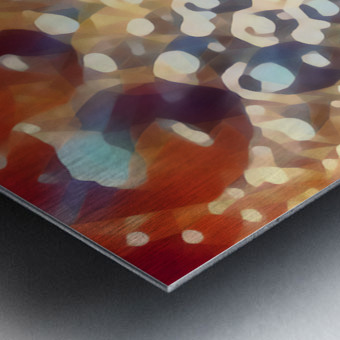 coffee bubbles art Metal print