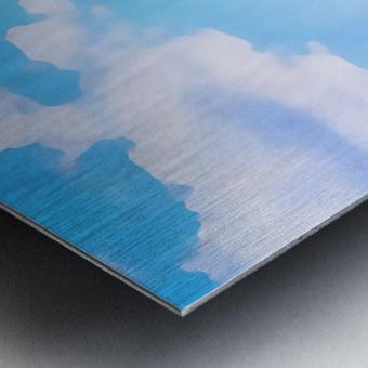 mt ranier clouds Metal print