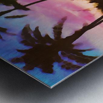 gulf of mexico sunset art Metal print