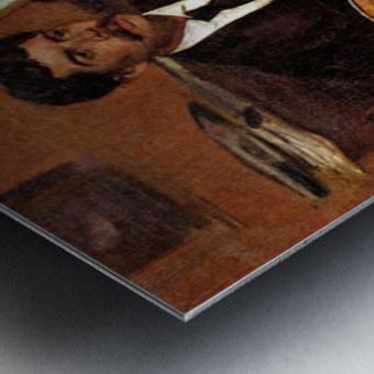 The guitarist Pagans and Monsieur Degas by Degas Metal print