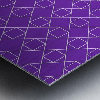 Purple Squares And Diamonds Pattern Metal print