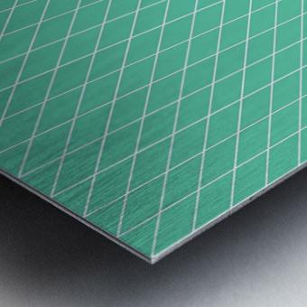 Aquamarine Checkers Pattern Metal print