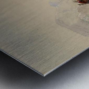 The Scalp-Lock Metal print