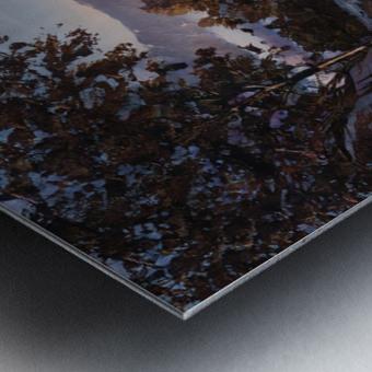 River rolling over stones Metal print