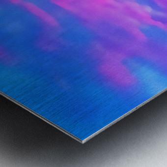 pink waves Metal print