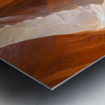 Beautiful Antelope Canyon Panoramic View Impression metal