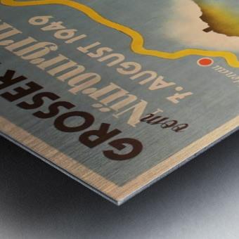 Original Vintage Sports Car Racing Poster for the 1949 Nurburgring Grand Prix Metal print