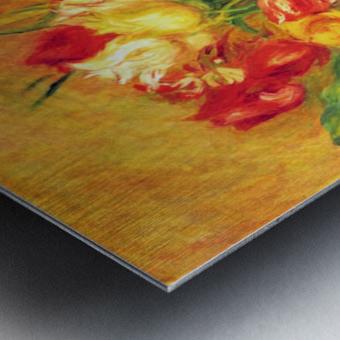 Tulips in a Vase Metal print