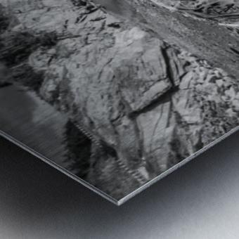 La Presqu'ile in black and white Metal print