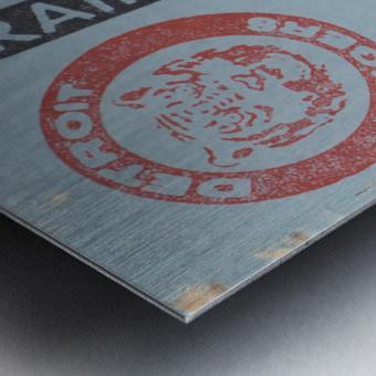 1974 Detroit Tigers Field Box Ticket Metal print