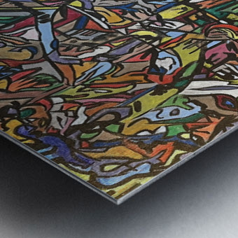 Dissociation Metal print