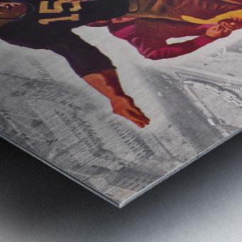 1947 Notre Dame vs. Iowa Football Program Cover Art Metal print