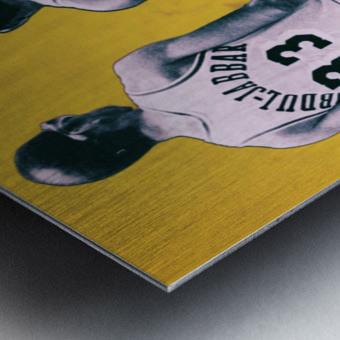 1984 Magic Johnson Kareem Remix Art Metal print
