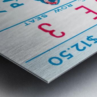 1976 Russians vs. Chicago Blackhawks Ticket Stub Art Metal print
