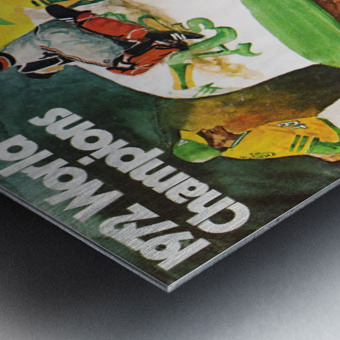 1972 Oakland Athletics World Champions Poster Metal print