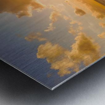 Atlantic Sunset over Praia Del Rey - Portugal Metal print