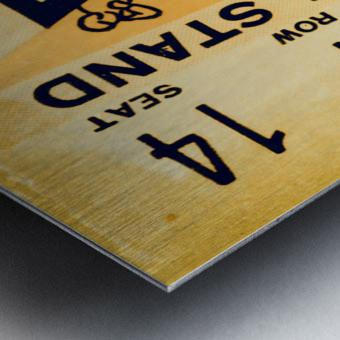 1938 Iowa Hawkeyes Football Ticket Remix Art Metal print