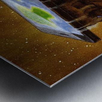 flat world Metal print