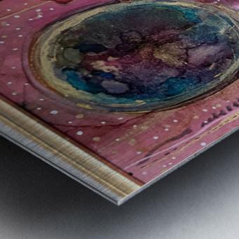 New Earth Metal print