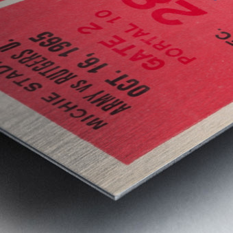 1965 Army vs. Rutgers Football Ticket Art Metal print