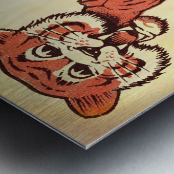 Vintage Fifties Princeton Tiger Remix Art Metal print