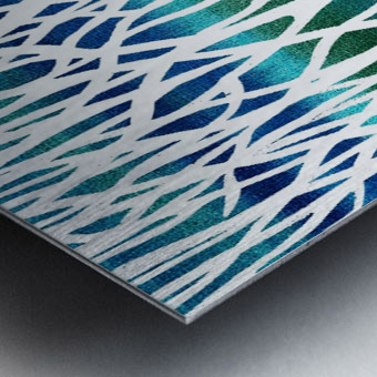 Blue Teal Forest  Metal print