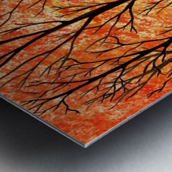 Autumn Forest Abstract  Metal print