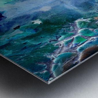 Lunar neuronal essence Metal print
