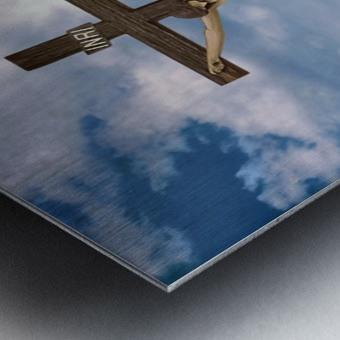 Jesus on the Cross Illustration Metal print