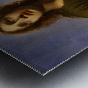 Saint John the Evangelist Writing the Book of Revelation Metal print