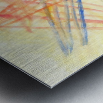 Scratches 2 (Joan Miro tribute) Metal print