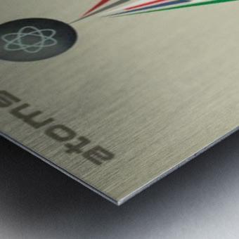Atoms for Peace poster Metal print