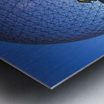 Reflections on Buckminster Metal print