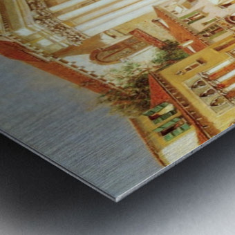 Along the Venetian Canal Metal print