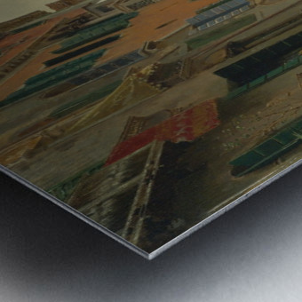 A quiet canal Metal print