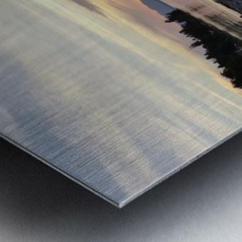 Walking in Light Metal print