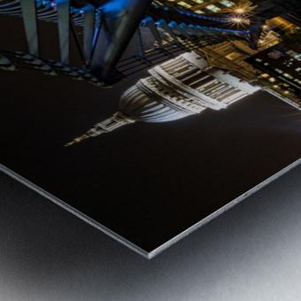 Millenium Bridge, London Metal print