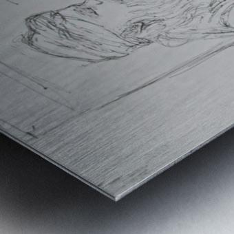 darvesh Metal print
