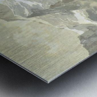 Snowcaps Metal print