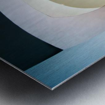 Top light Metal print
