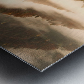 November's fog Metal print