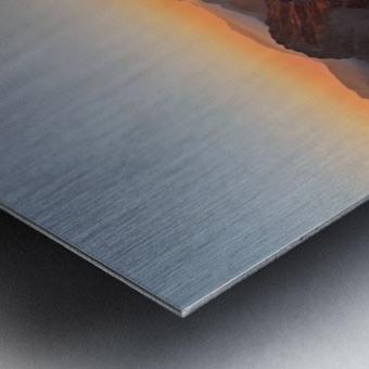 Running on the ridge Metal print