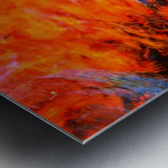 The Flock Orange Metal print