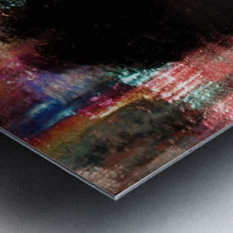 Rain above the funfair Metal print