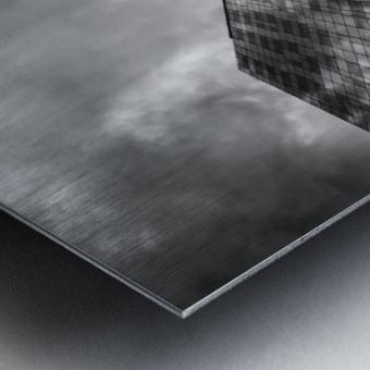 W&B Metal print
