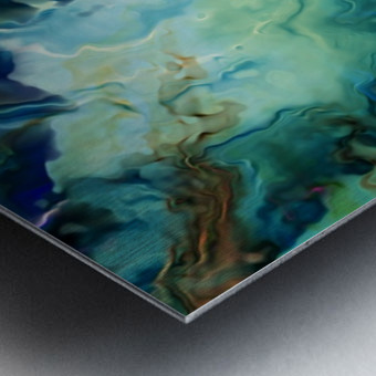 Oil Painting Abstract Color Line Wave Design Metal print
