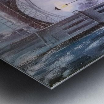 Первый снег в Париже   Metal print