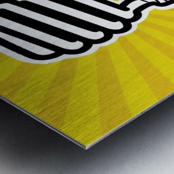 Compact Fluorescent Lightbulb Metal print