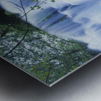 Sweet Creek waterfalls along the hiking trail; Mapleton, Oregon, United States of America Metal print